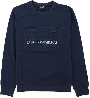 Emporio Armani EA7 Sweat-shirt Homme Bleu