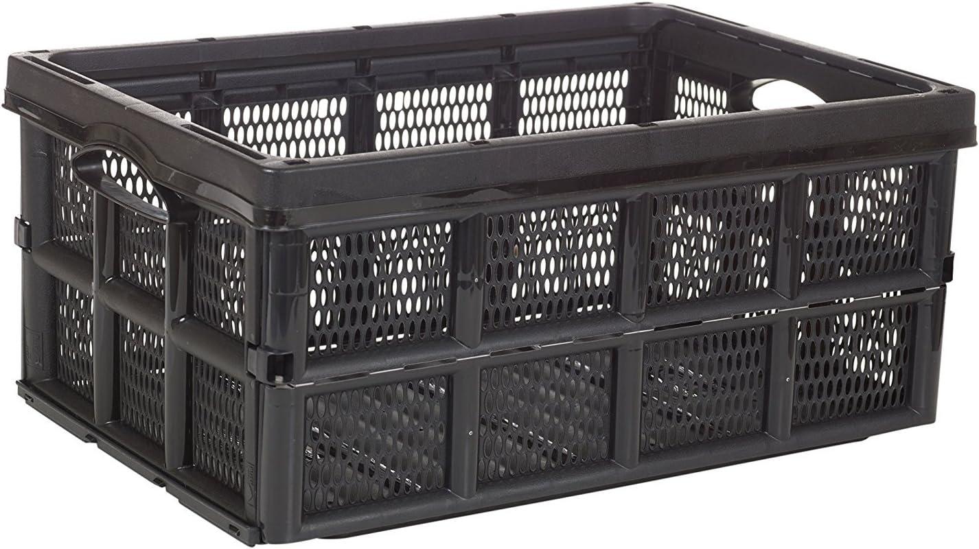 Plegable 31 litros Solución de caja de caja de almacenamiento de plástico Home Almacén Garaje: Amazon.es: Hogar