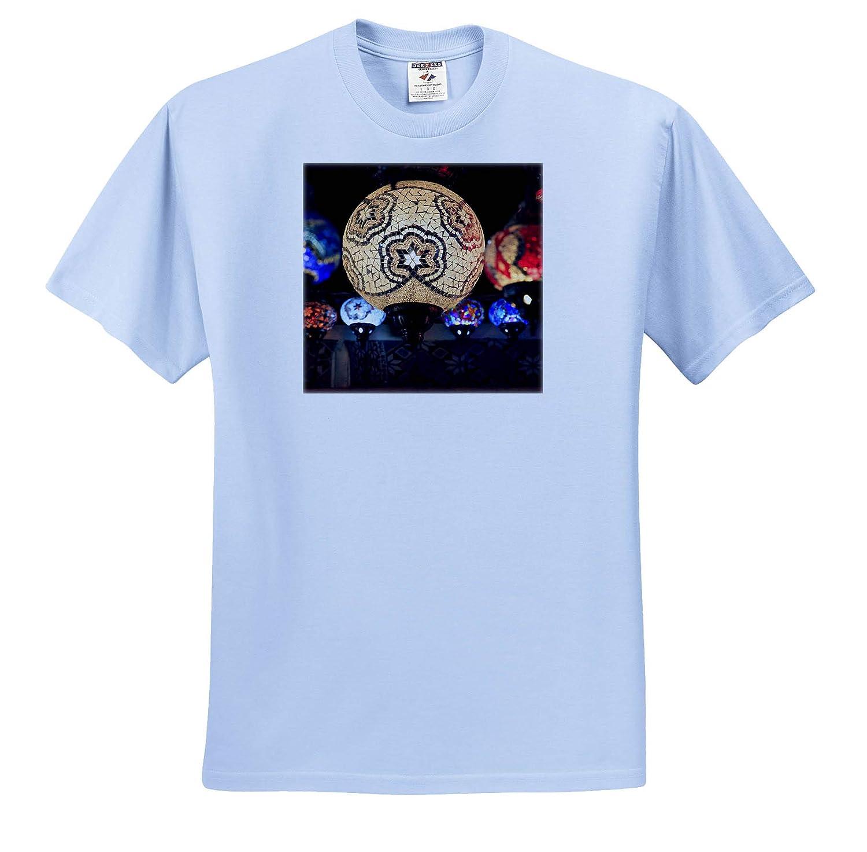 Glass Mosaic Lamps Decor Uchisar Colorful ts/_312864 - Adult T-Shirt XL 3dRose Danita Delimont Turkey