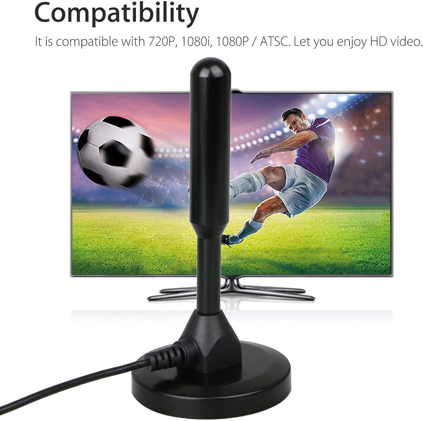 OUYAWEI Sale Indoor Digital HDTV TV Antenna Aerial Amplified 200 Mile Range VHF UHF Freeview