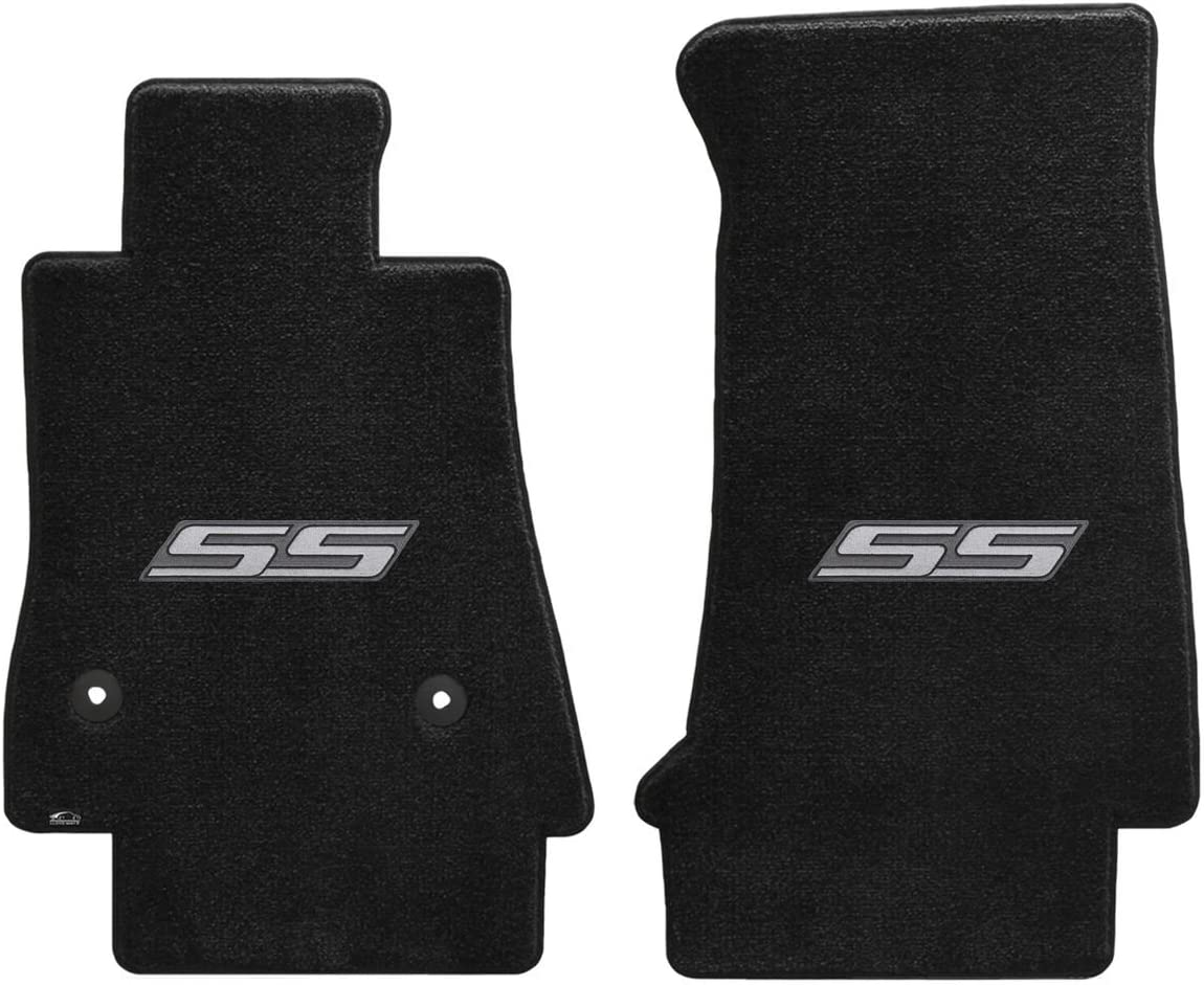 Corvette 2014 2Pc Car Floor Mats Carpet Black Ebony Ultimat C7 Logo