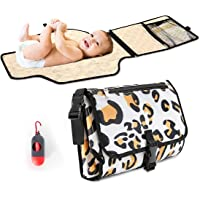 Homegician Portable Waterproof Diaper Changing Pad with Head Cushion