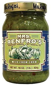 Mrs. Renfro's Mild Chow Chow, Gluten Free, 16 oz Jar, Pack of 2
