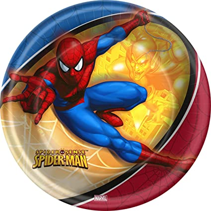 """The Amazing Spiderman Party Supplies 7/"""" Small Dessert Plates"""