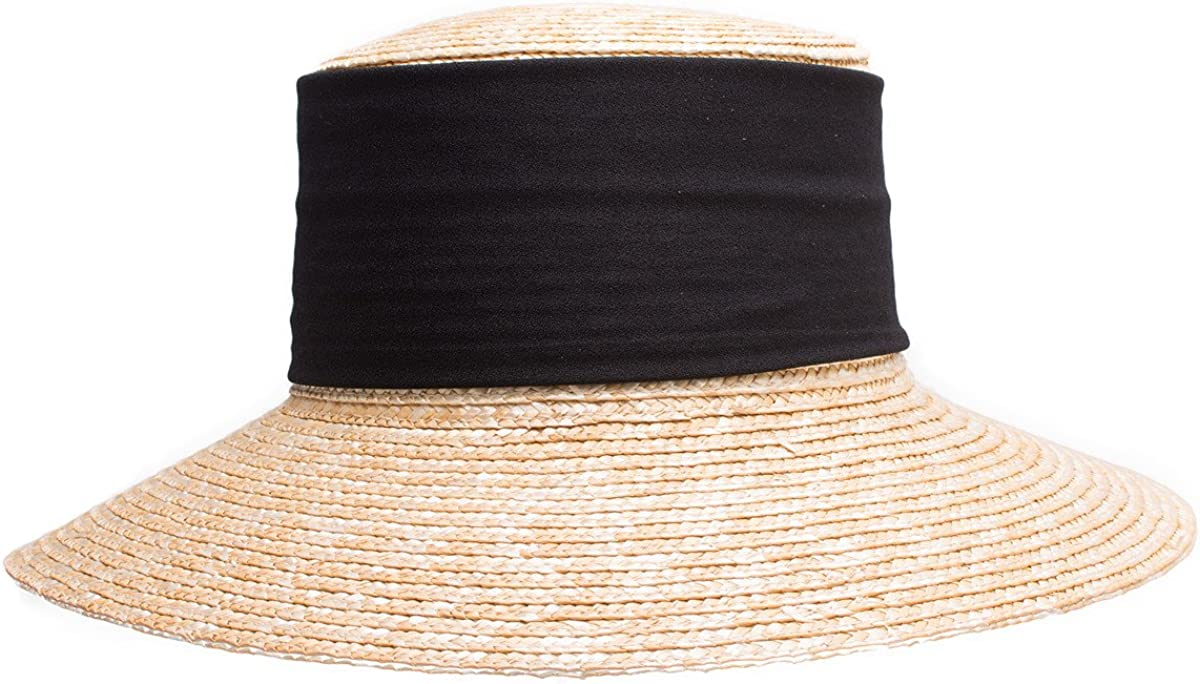Elegant Casablanca Style Women Wide Brim Maize Straw Derby Summer Sun Hat  A492