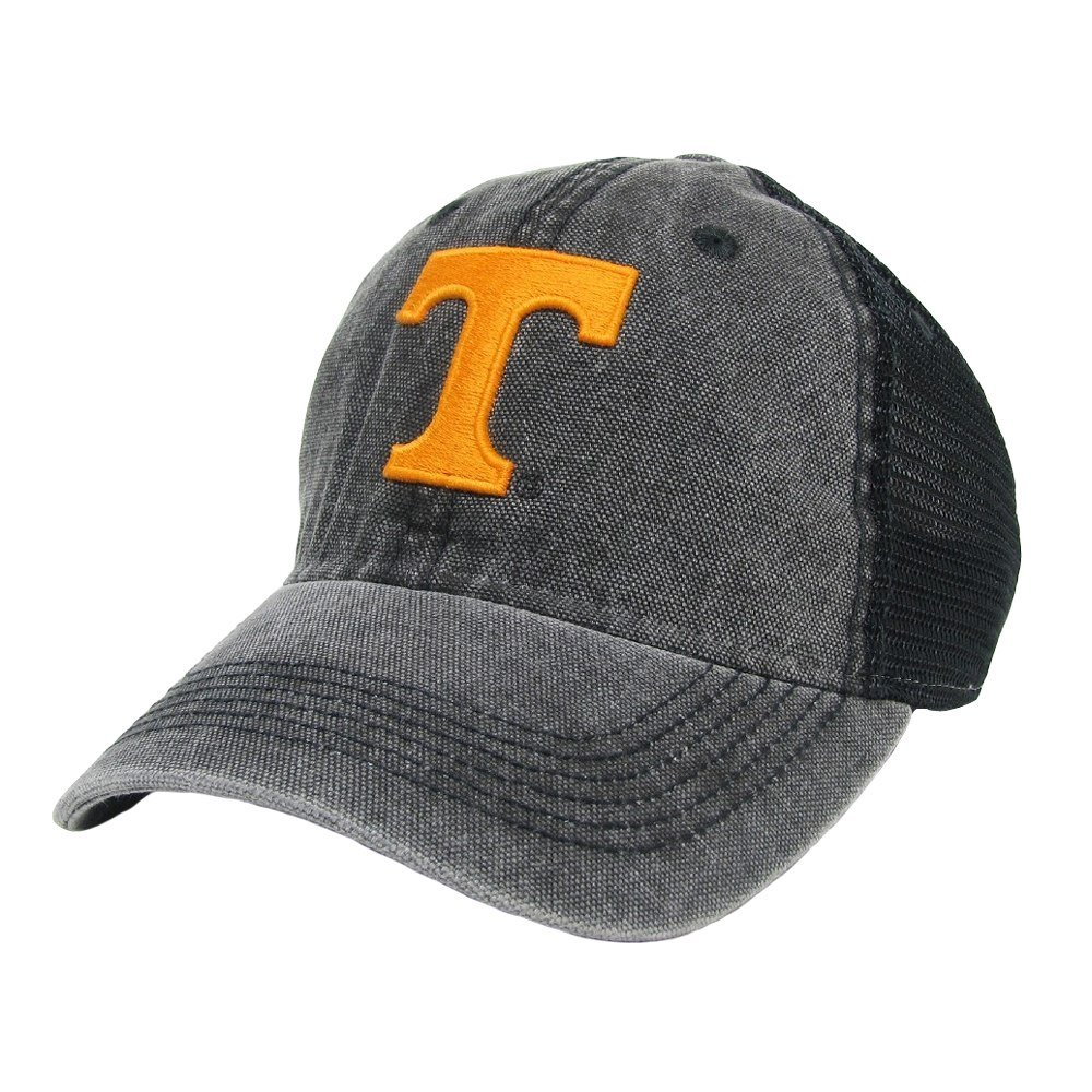 Amazon.com   Legacy Athletics Tennessee Volunteers Black Dashboard Trucker  - Power T Logo   Sports   Outdoors aa8b1c93766