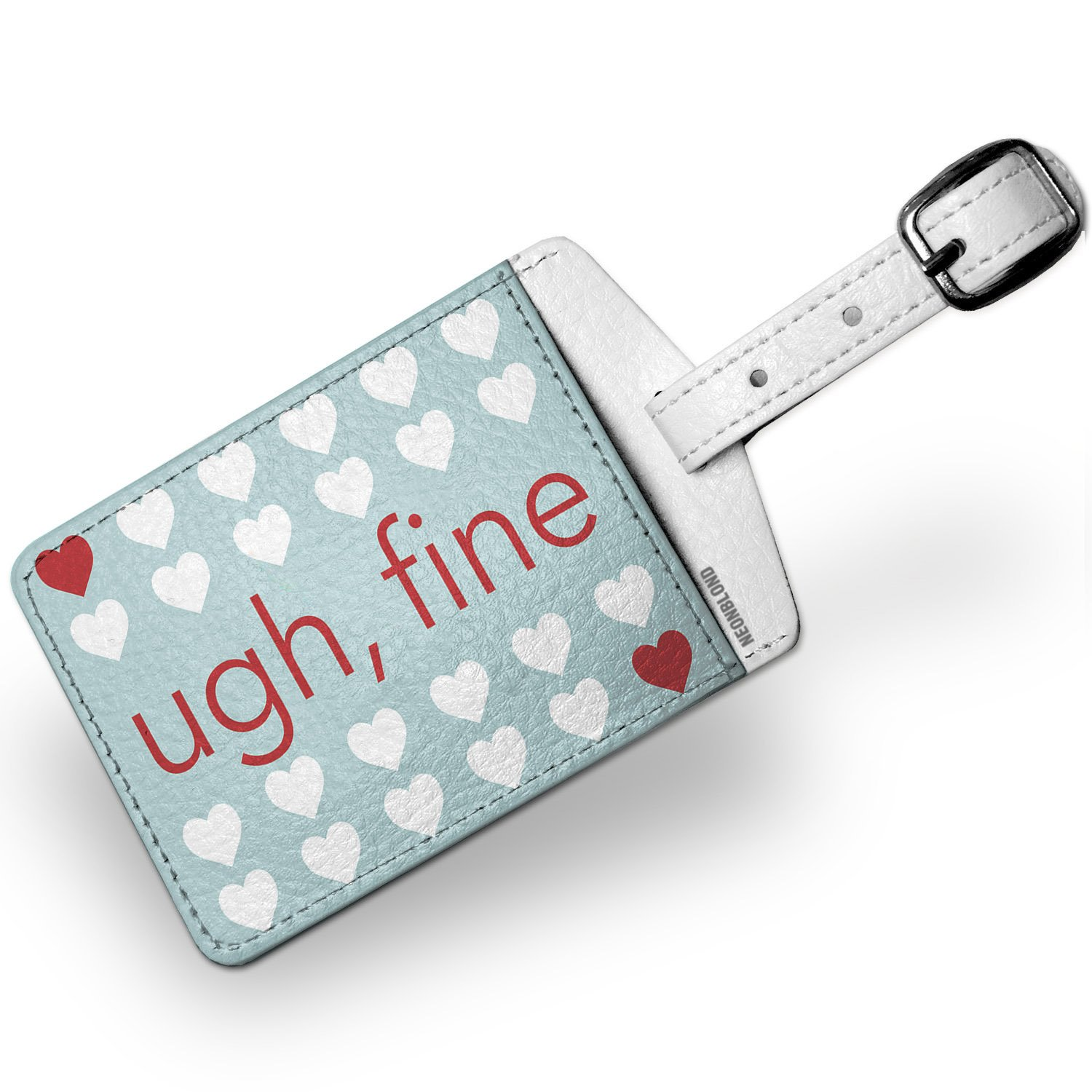 Luggage Tag Ugh, Fine Valentine's Day Mint Hearts - NEONBLOND