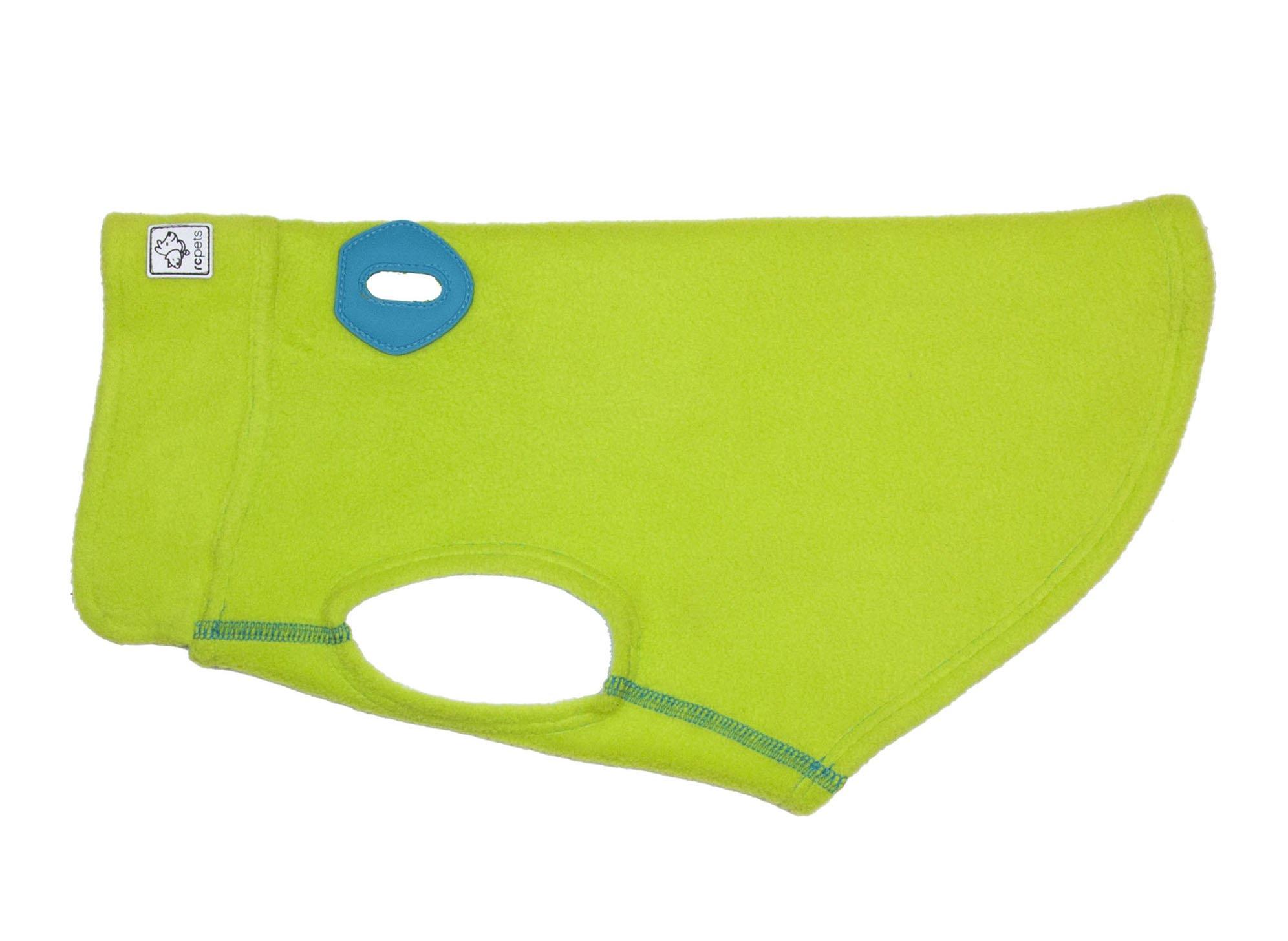 RC Pet Products Baseline Dog Fleece, Dog Coat, Size 10, Lime/Teal