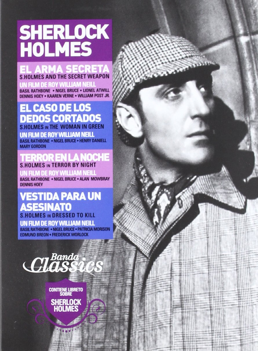 Pack Sherlock Holmes [DVD]: Amazon.es: Basil Rathbone, Nigel Bruce, William Neill, Basil Rathbone, Nigel Bruce: Cine y Series TV
