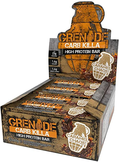 Grenade Carb Killa High Protein And Low Carb Bar 12 X 60 G Caramel Chaos