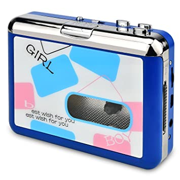 USB Convertidor y Reproductor de Cinta casetes,Convertir Audio Cassette a MP3 Digital,para Grabar Cassette a mp3 en Windows o Mac(Azul): Amazon.es: ...