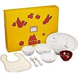 NARUMI(ナルミ) 幼児用 食器セット まんてんセット ブレーメン ブルー 9点セット 電子レンジ対応 日本製 7980-33301