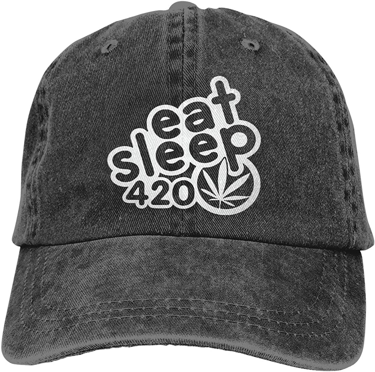 PMGM-C Eat Sleep 420 Adult Personalize Jeans Casquette Adjustable Baseball Cap