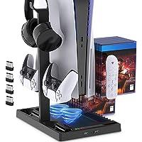 Suporte de carregamento com ventilador de resfriamento para console e controlador de edição digital PS5 / PS5, estação…