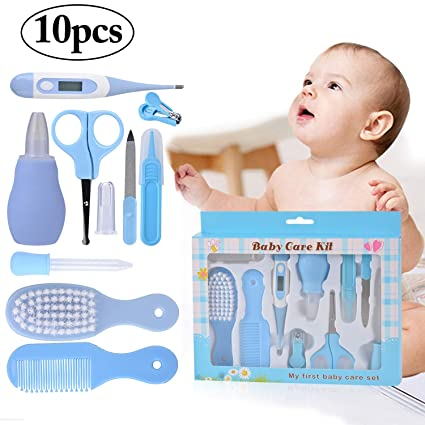 Kit de Cuidado para Bbés, Kapmore 10 Piezas Kit de Cuidado Infantil Kit de Cuidado