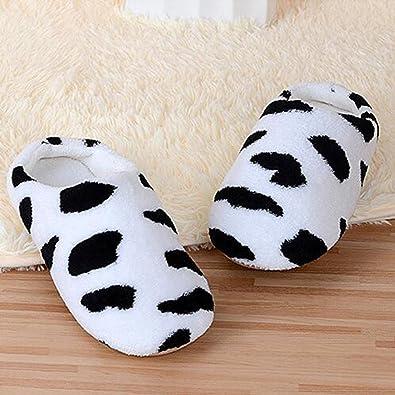 QZBAOSHU Zapatos Hombres Mujeres Caliente Suave de Interior de Algodón Casa Zapatillas Antideslizantes (M, Rosado)