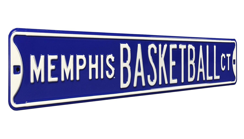 NCAAメンフィスバスケットボールCTストリートsignstreetサイン、チームカラー、36
