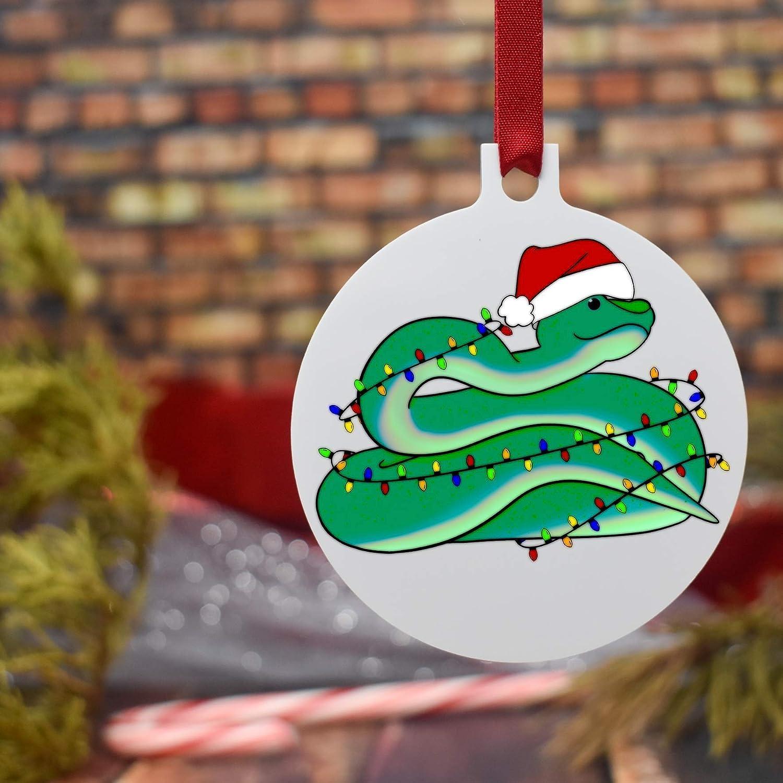 Snake Christmas Tree Ornament 3 Flat Lightweight Aluminum Ornament Tuck-in Gift