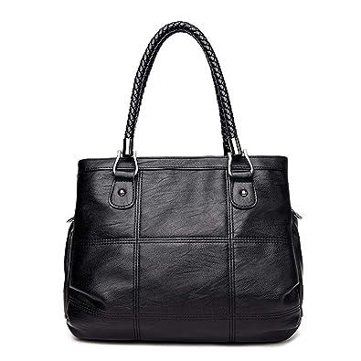c5af799c05 Keamallltd Fashion Ladies Hand Bag Women S Genuine Leather Handbag Black Leather  Tote Bag Bolsas Femininas Female