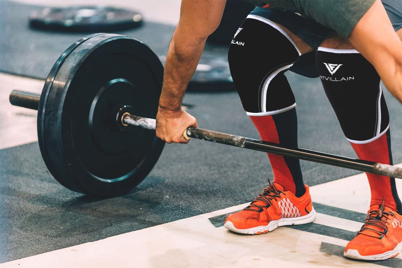 Excelente para Crossfit Calistenia Fitness Gimnasio Rodilleras para Levantamiento de Pesas Entrenamiento Musculacion Halterofilia Rutina de Ejercicio Manga para Rodilla de Neopreno de 7mm