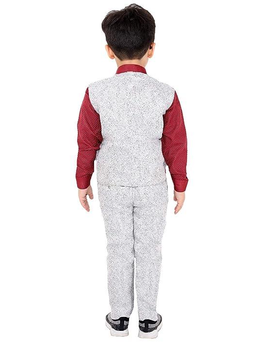 Fourfold - Juego de traje étnico de 3 piezas con camisa y pantalón ...