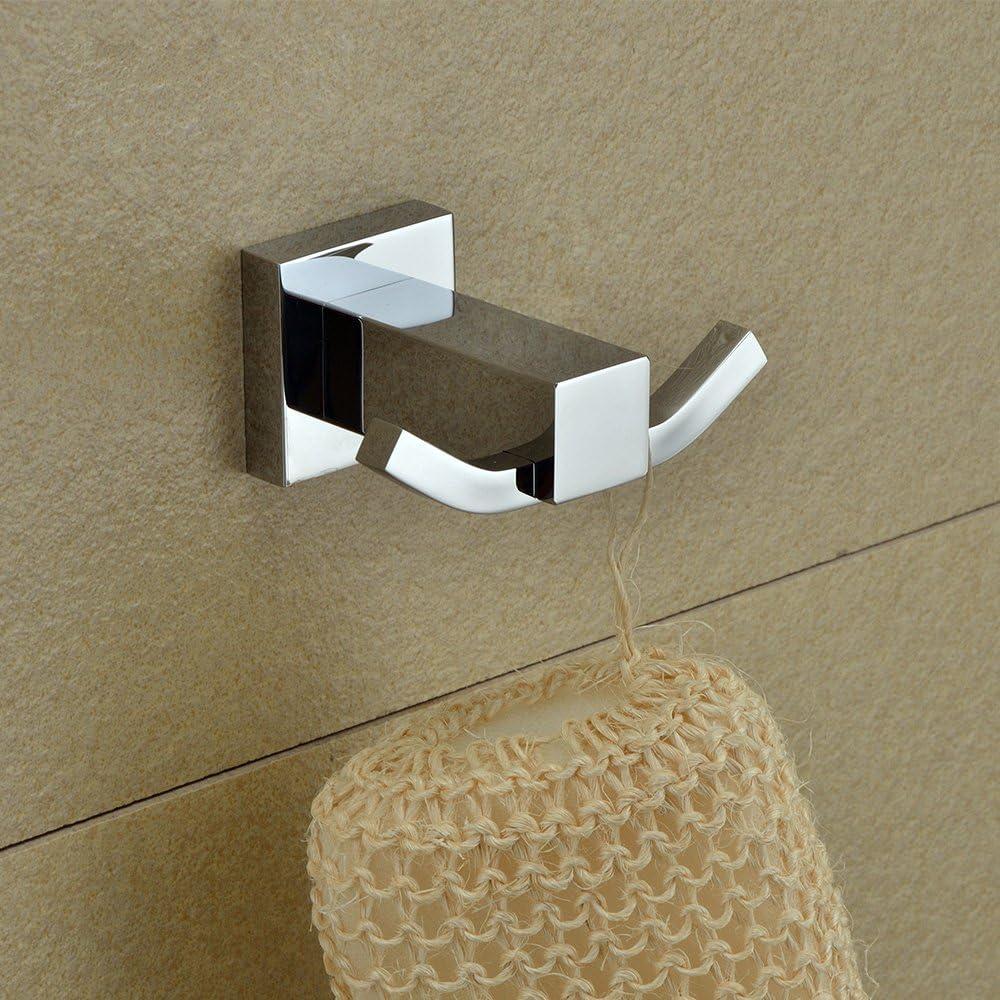 Konhard WY64101 Solid Brass Wall Mounted Bathroom Towel Hook Chrome