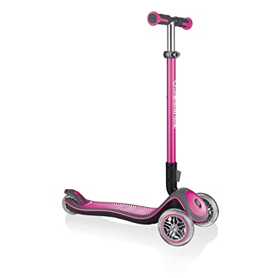Globber Unisex-Youth 444-210 Elite Deluxe Scooter Deep Pink, 1 Size : Sports & Outdoors
