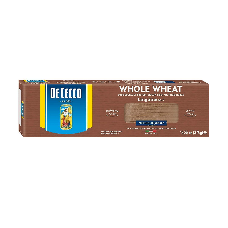 De Cecco Whole Wheat Pasta, Linguine No.7, 13.25 Ounce (Pack of 12)