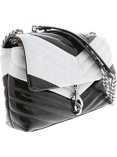 e51bbb605e4 Amazon.com: Rebecca Minkoff Women's Edie Crossbody Leather Cross Body Bag -  Black/Opt White: Rebecca Minkoff: Shoes