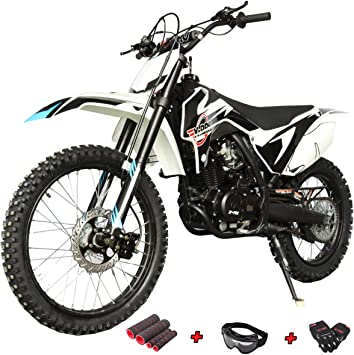 Amazon Com X Pro Titan 250cc Dirt Bike Zongshen Engine Pit Bike Gas Dirt Bikes Adult Dirt Pitbike 250cc Gas Dirt Pit Bike Big 21 18 Wheels Black Automotive