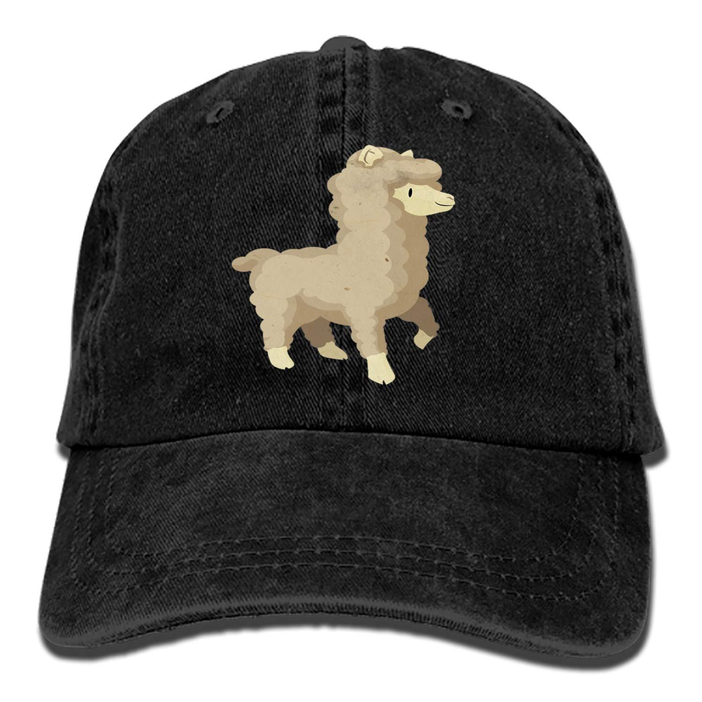 Dad Trucker Snapback Hat Custom Cartoon Alpaca Classic Cotton Adjustable Baseball Cap