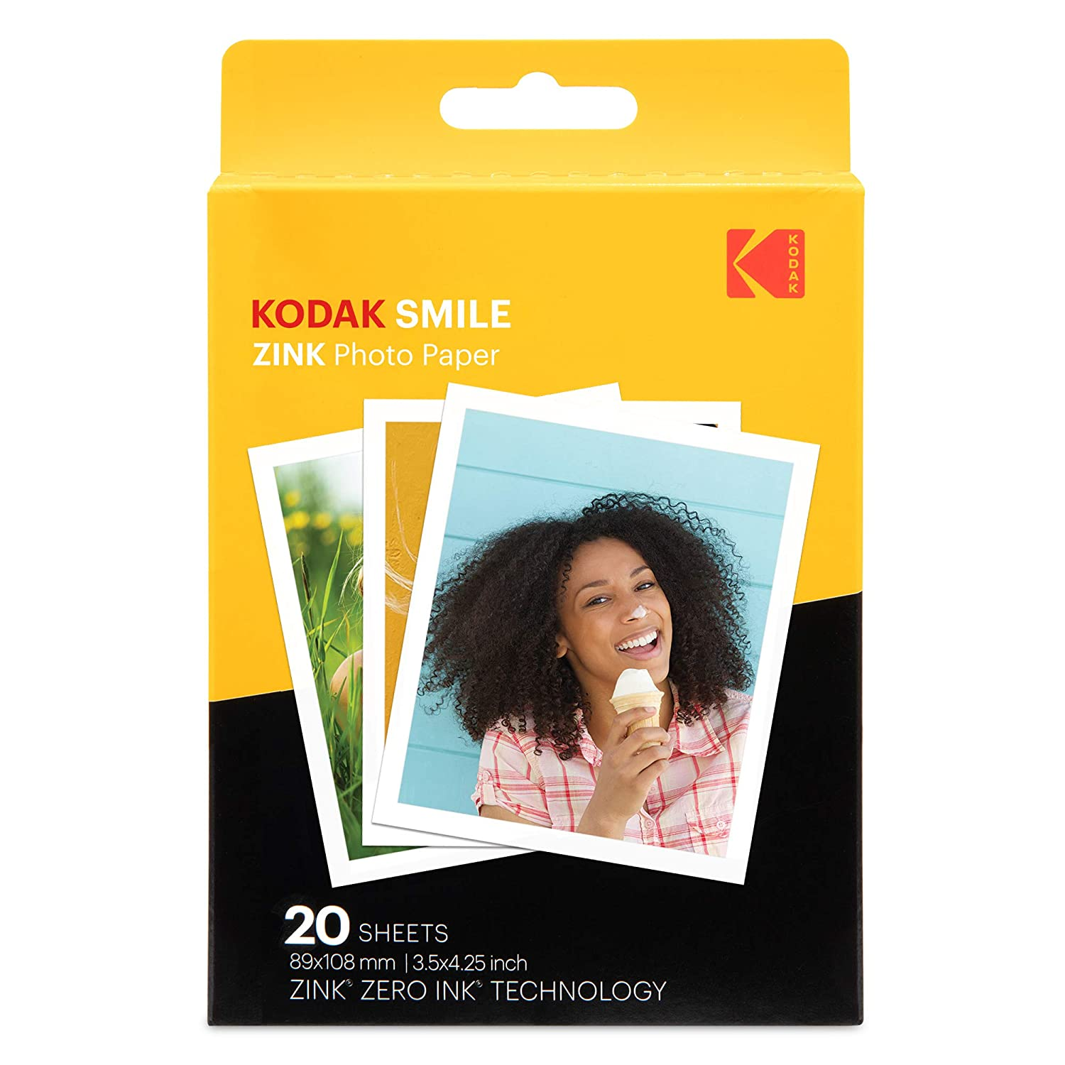 40 Sheets Compatible with Kodak Smile Classic Instant Camera Kodak 3.5x4.25 inch Premium Zink Print Photo Paper