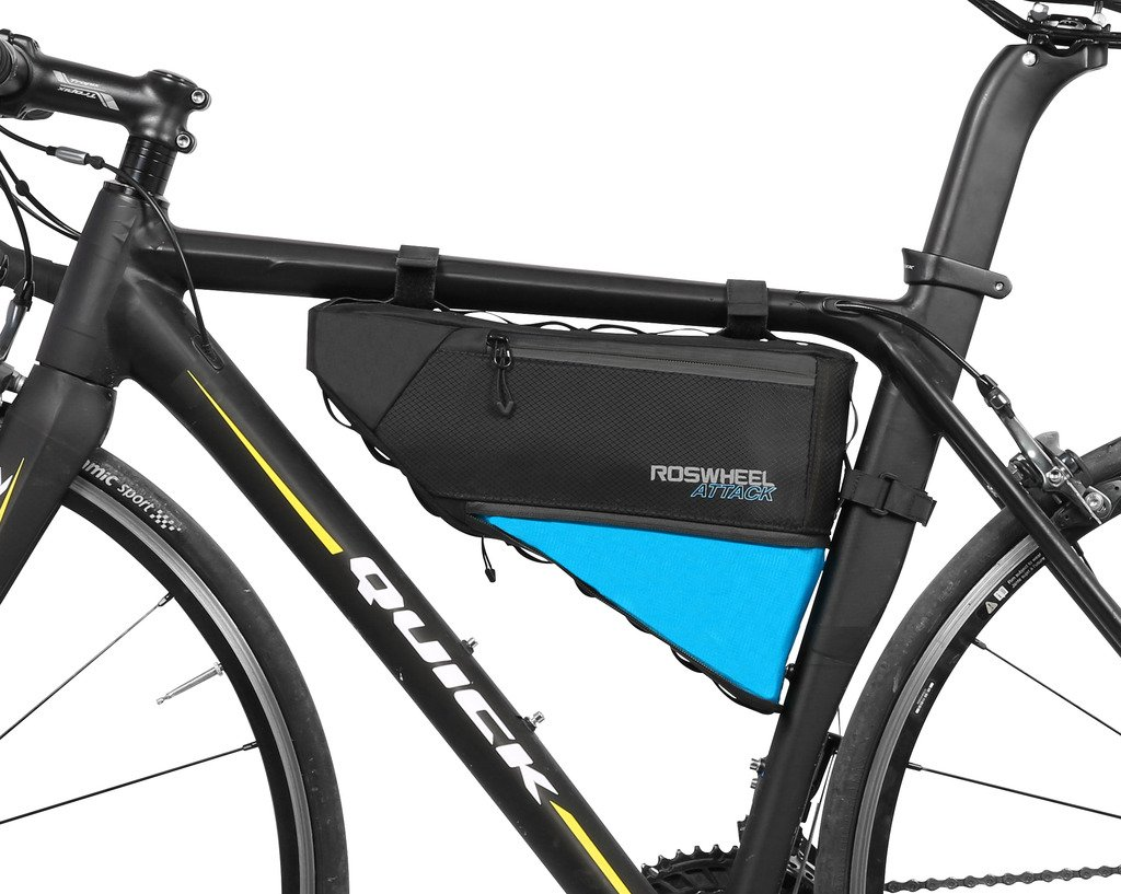 VERTAST 4l Fahrrad Vorderrohr Rahmen Dreieck Tasche Wasserdicht Berg Rennrad Rahmen Pack Pannier, Schwarz