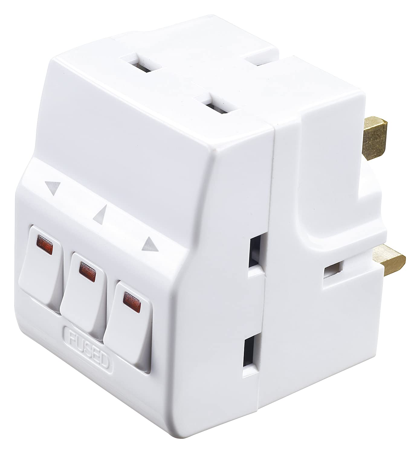 Masterplug MSWG3 Individually Switched Adaptor with 3 Sockets ...