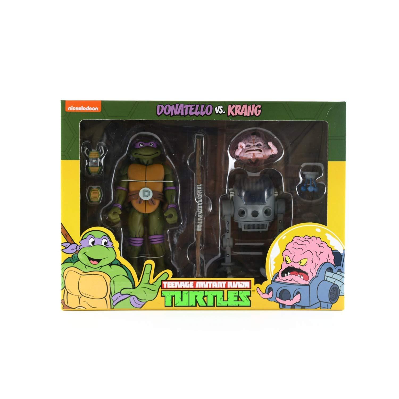 NECA Donatello vs Krang Action Figure 2-Pack Teenage Mutant Ninja Turtles Cartoon Version TMNT