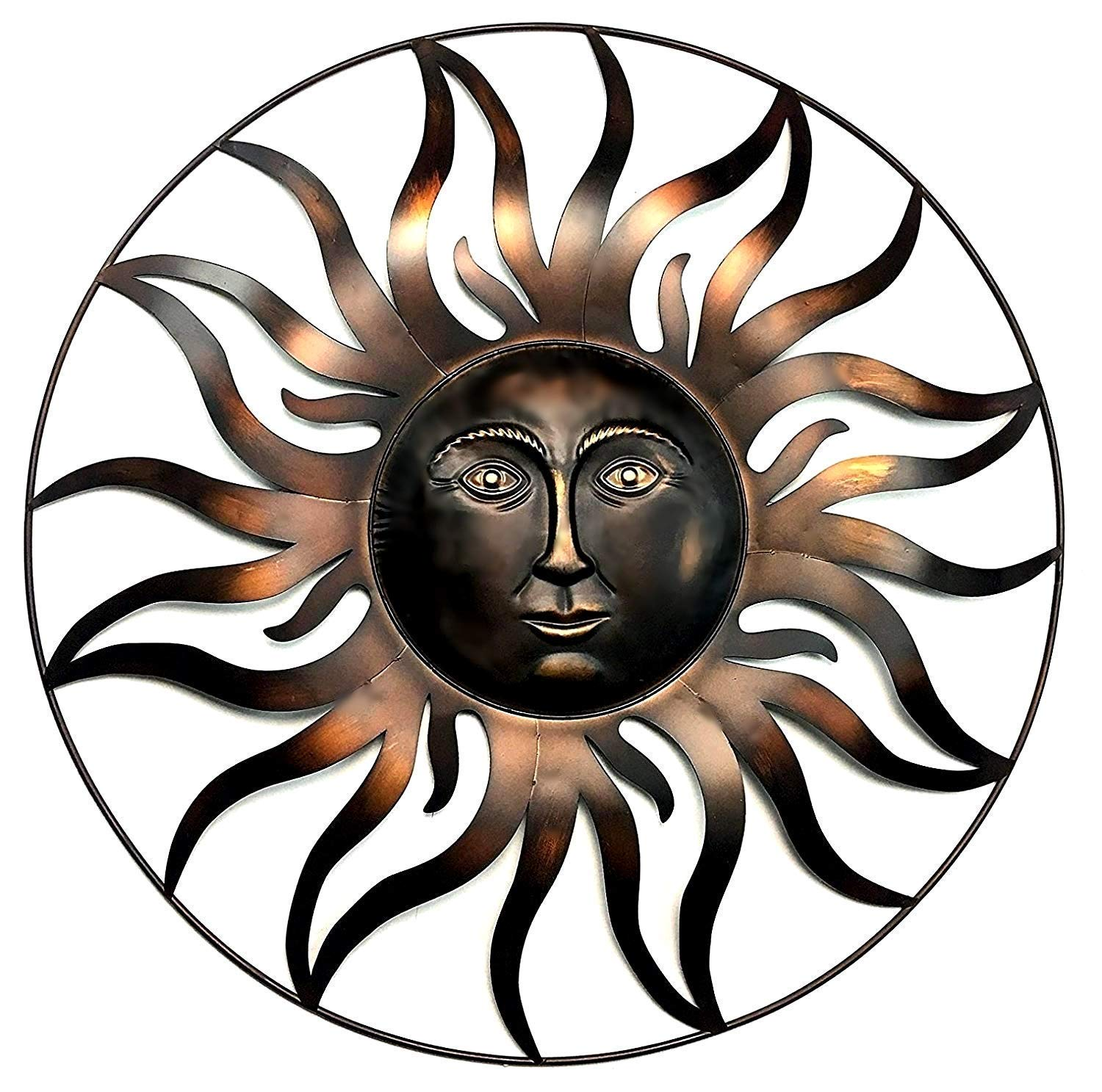 Bellaa 20018 Sun Metal Wall Decor Patio Garden, Indoor, Outdoor Celetic