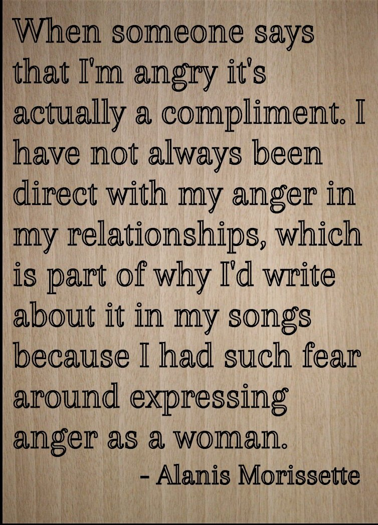 Watch Alanis Morissette: When someone says I'm angry, it's a compliment' video