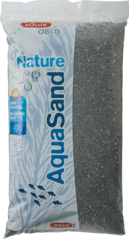 Zolux Gravier Naturel pour Aquarium Basalte Noir de 1 à 4 mm de Granulométrie 5 kg 346437