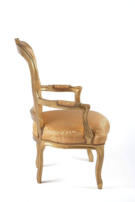 Poltrona Barocco Oro Dimensioni Altezza cm 100 Larghezza cm 62 profondit/à cm 53