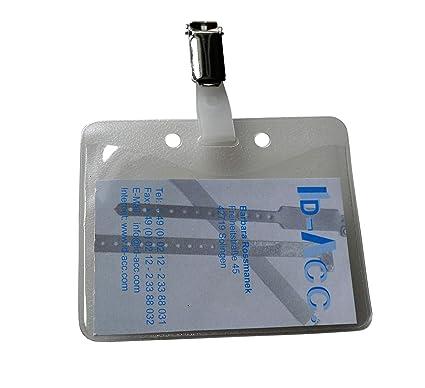 50 clips de metal para tarjeta de identificación con ...