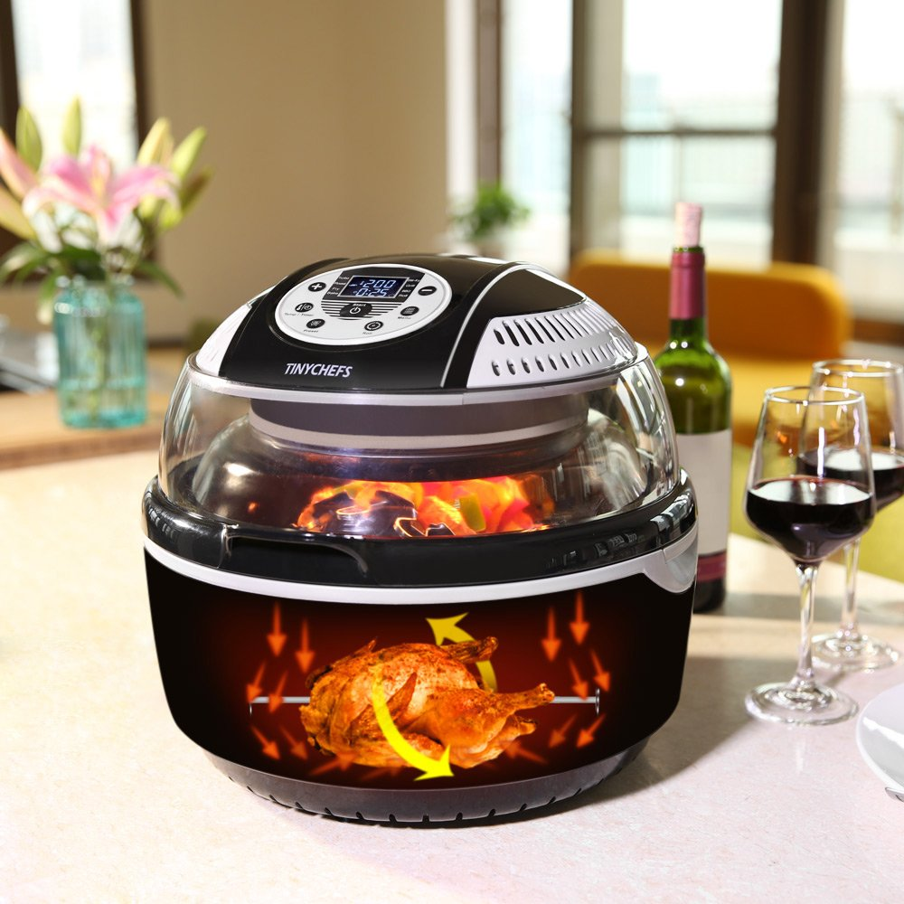 Tinychefs Multifunctional Airfryer, Oil-Less Airfryer 10 litres Health Halogen Turbo Hot Air Fryer Multi Grill Oven Temperature Control No Splatter by Tinychefs (Image #5)