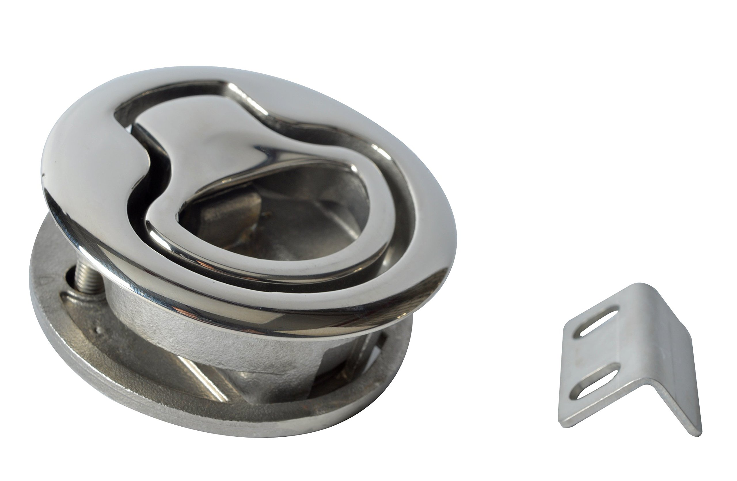 Amarine-made Marine Boat Stainless Steel 2'' Flush Pull Hatch Latch (A) by Amarine-made