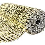 Bluelans® Rotolo a rete per fiocchi effetto diamante sintetico, 12 x 91 cm, per la decorazione della casa, feste e matrimoni