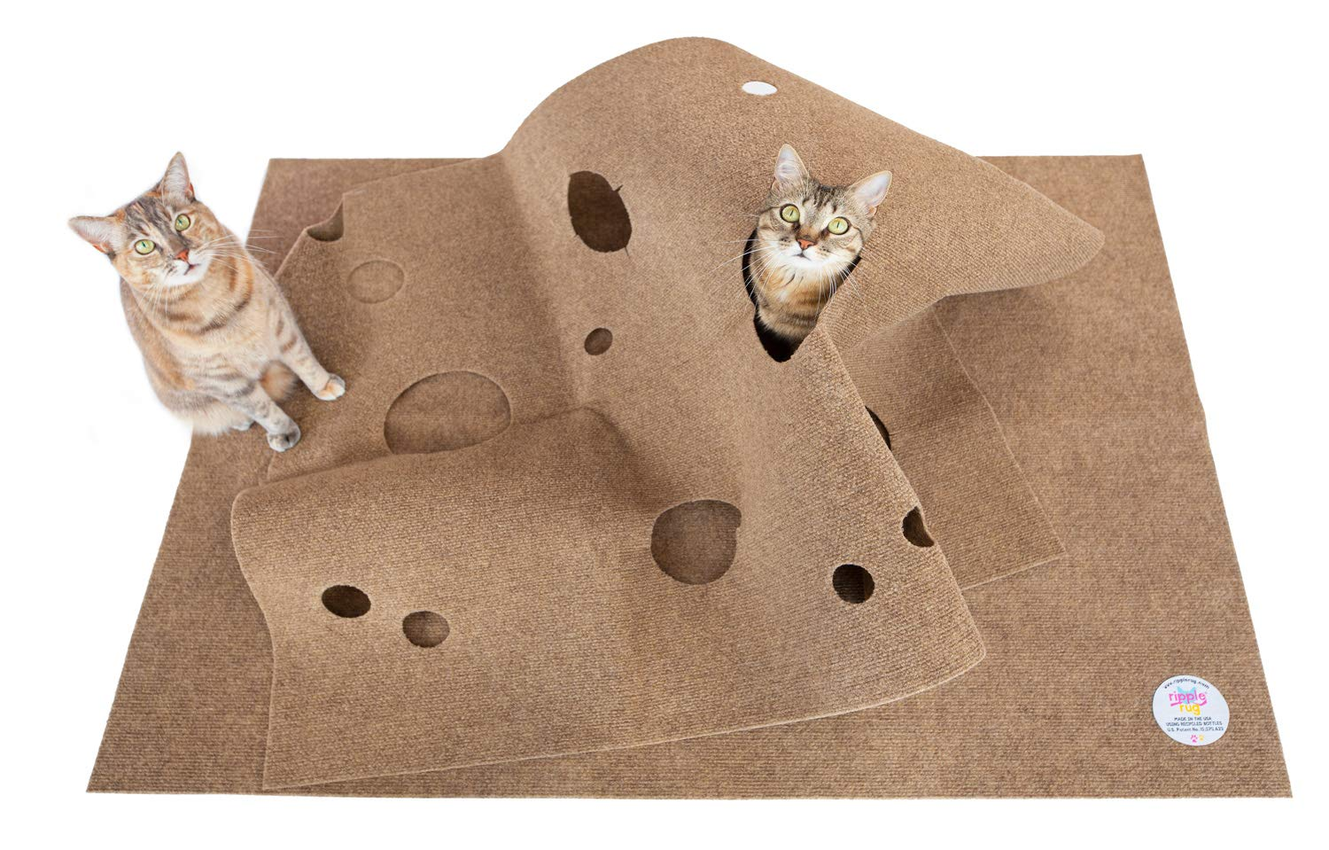 SnugglyCat The Ripple Rug - Made in USA - Cat Activity Play Mat - Thermal Base -Fun Interactive Play - Training - Scratching - Bed Mat by Snuggly Cat