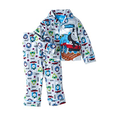 AME Thomas and Percy Train Track Toddler Boy's 5T Flannel