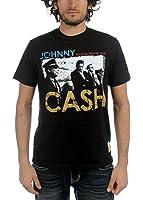 Johnny Cash - Herren-Sicherheits-T-Shirt in Schwarz