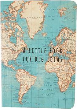 Ios Cartina Geografica.Sass Belle Quaderno Per Appunti Copertina Con Cartina Geografica In Stile Vintage Multicolore Amazon It Casa E Cucina