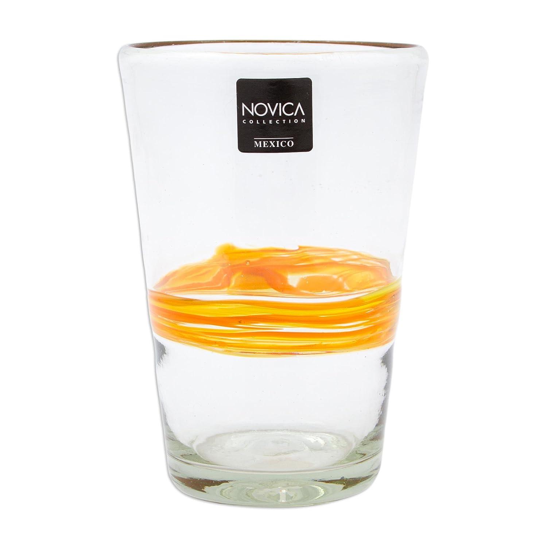 Amazon.com: NOVICA 208628 cinta de sol blown vasos de ...
