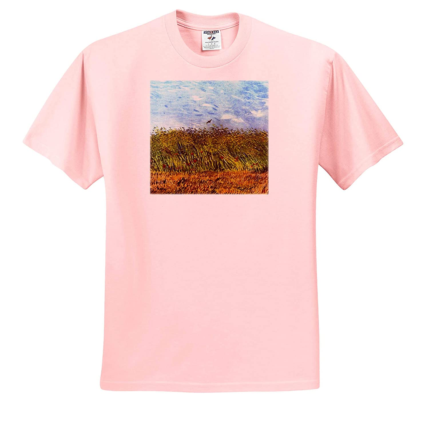 Masterpieces Wheat Field with Poppies and Lark Van Gogh 3dRose VintageChest T-Shirts