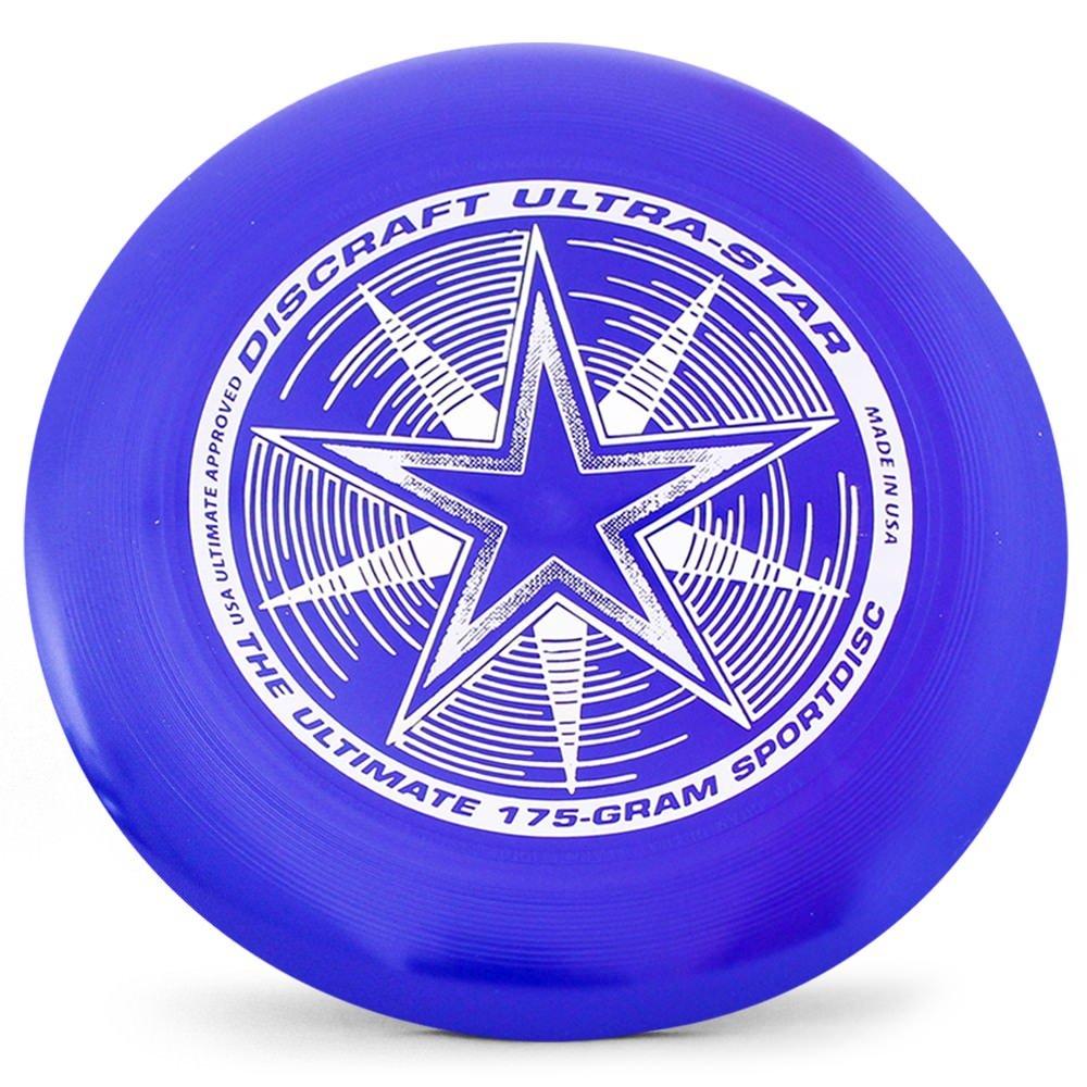 Discraft Ultra-Star 175g Ultimate Disc + Free Mini Frisbee + Ultimate Disc Sticker (USA Ultimate Approved) - Blue by Disc Store